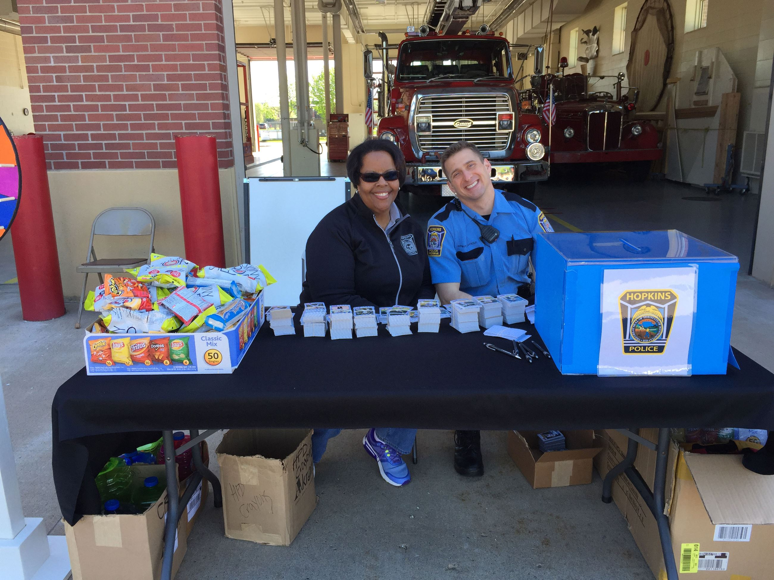 Police Reserves Helping in the Community at Fire Open House