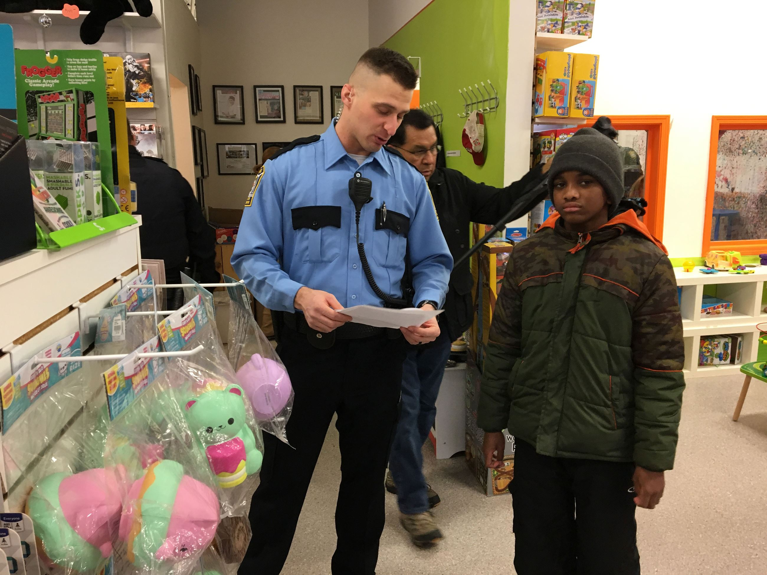 Police Reserves Helping in the Community - at Shopping Area