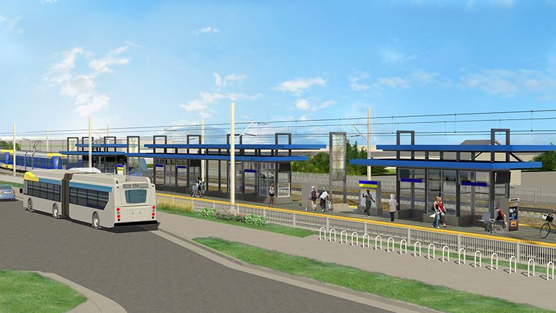 Artist Rendering of Blake Road Station (PDF)