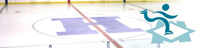Pavilion Ice Floor With Logo