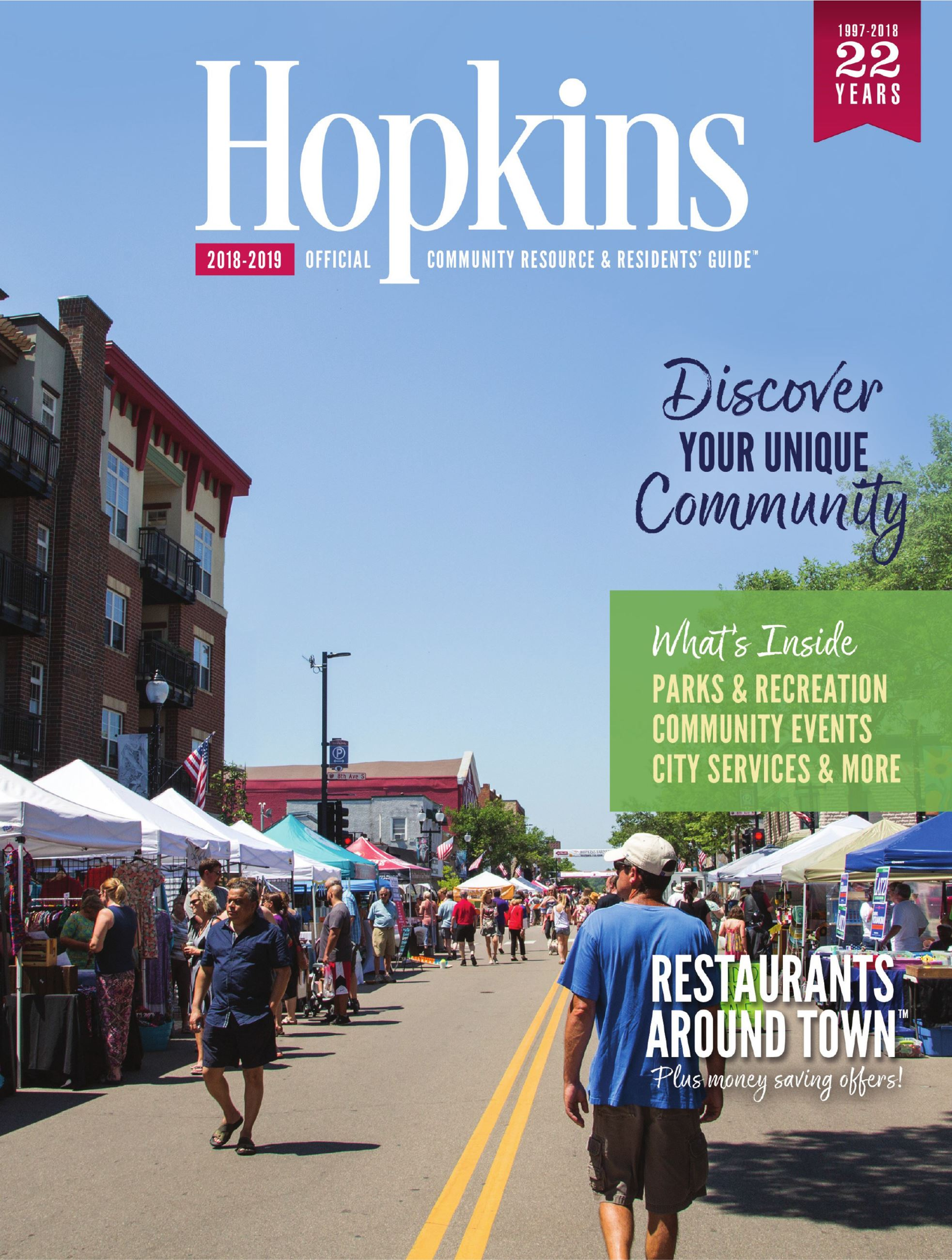 2018 Hopkins Community Guide Cover