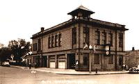 The original City Hall building located at 8th Avenue N and Mainstreet